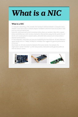 What is a NIC