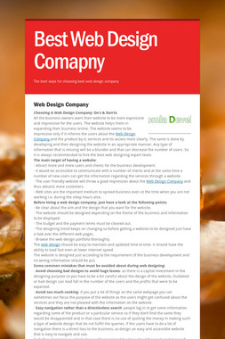 Best Web Design Comapny
