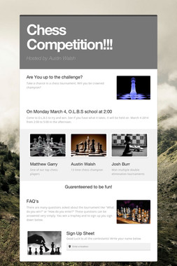 Chess Competition!!!