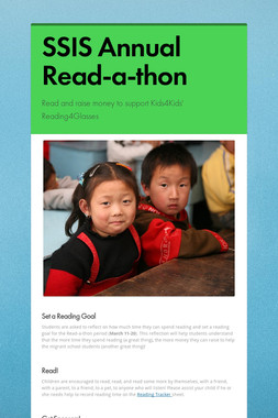 SSIS Annual Read-a-thon