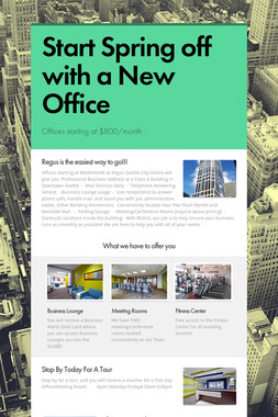 Start Spring off with a New Office