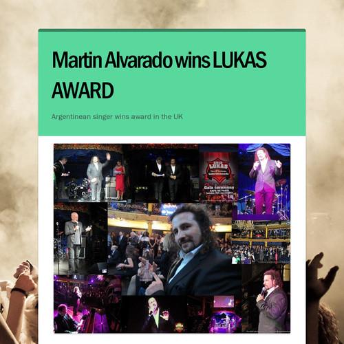 Martin Alvarado wins LUKAS AWARD