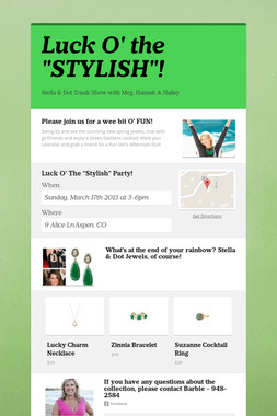 """Luck O' the """"STYLISH""""!"""