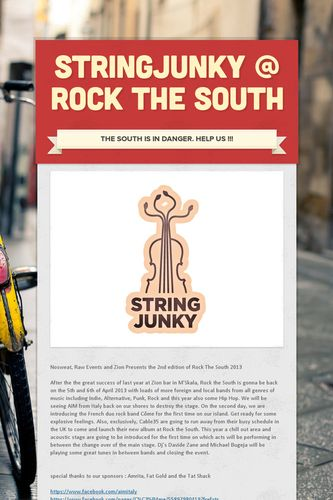 StringJunky @ ROCK THE SOUTH