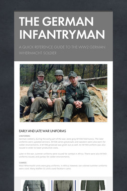 THE GERMAN INFANTRYMAN