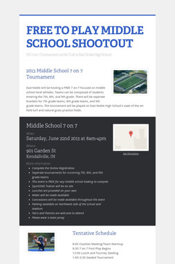 FREE TO PLAY MIDDLE SCHOOL SHOOTOUT