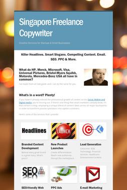 Singapore Freelance Copywriter