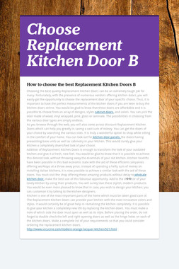 Choose Replacement Kitchen Door B