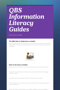 QBS Information Literacy Guides
