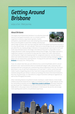 Getting Around Brisbane