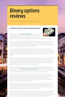 Binary options reviews