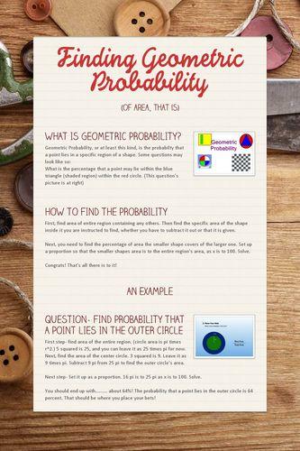 Finding Geometric Probability