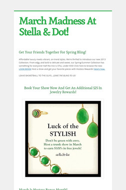 March Madness At Stella & Dot!