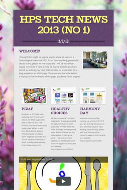 HPS Tech News 2013 (No 1)