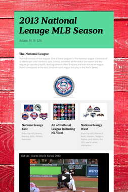 2013 National Leauge MLB Season