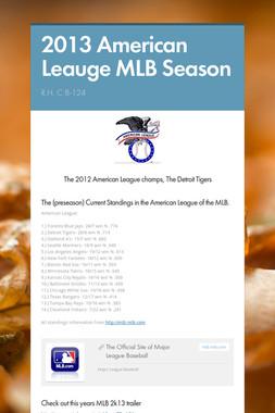 2013 American Leauge MLB Season