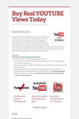 Buy Real YOUTUBE Views Today