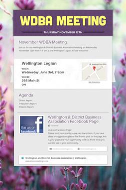 WDBA Meeting
