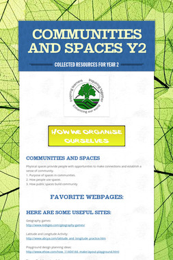 COMMUNITIES AND SPACES Y2