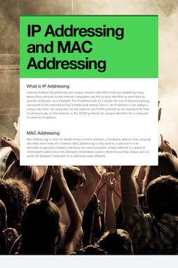 IP Addressing and MAC Addressing