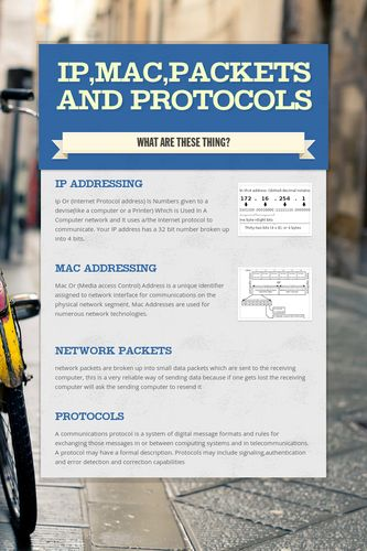 IP,Mac,Packets and Protocols