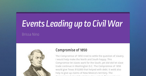 events leading up to civil war