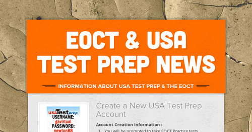 EOCT & USA Test Prep News