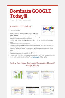 Dominate GOOGLE Today!!!