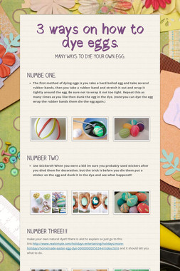 3 ways on how to dye eggs.