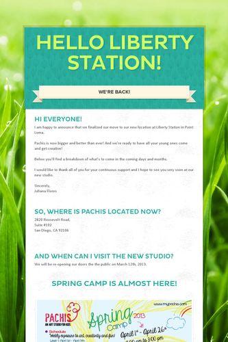 Hello Liberty Station!