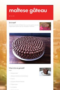 maltese gâteau