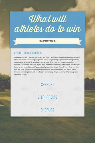 What will athletes do to win