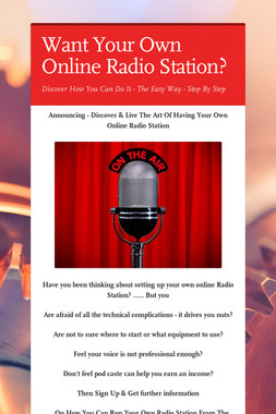 Want Your Own Online Radio Station?