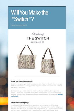 """Will You Make the """"Switch""""?"""