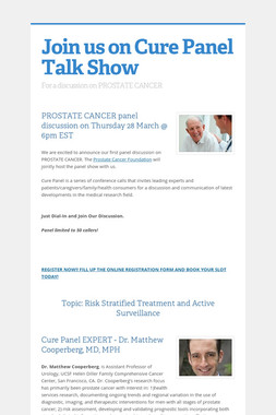 Join us on Cure Panel Talk Show