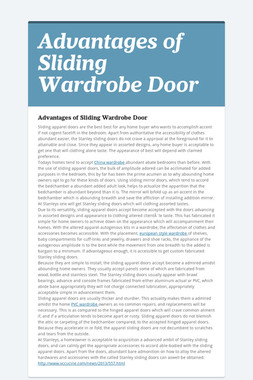Advantages of Sliding Wardrobe Door