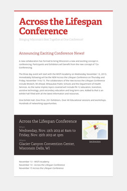 Across the Lifespan Conference