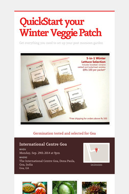 QuickStart your Winter Veggie Patch