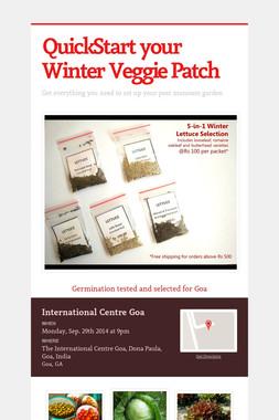 QuickStart your Winter Veggie Patch