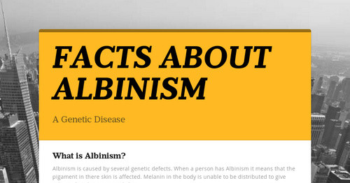 facts about albinism