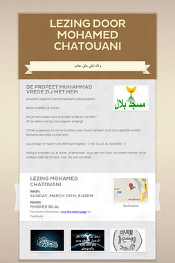 Lezing door Mohamed Chatouani