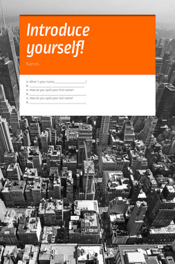 Introduce yourself!
