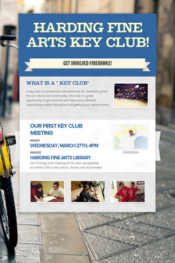 Harding Fine Arts Key club!