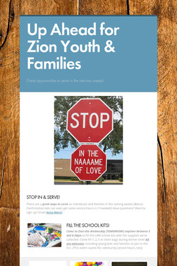 Up Ahead for Zion Youth & Families