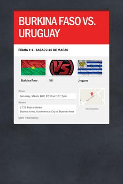 BURKINA FASO VS. URUGUAY