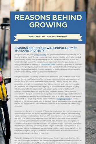 Reasons behind growing
