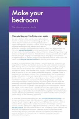Make your bedroom
