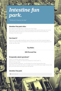 Intestine fun park.
