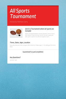 All Sports Tournament