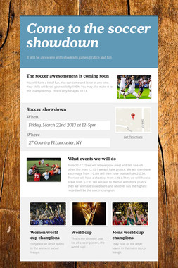 Come to the soccer showdown